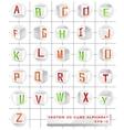 3d cube alphabet vector