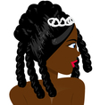 Black woman vector