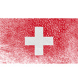 Flag of switzerland with old texture vector