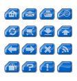 Web icons b blue vector