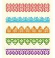 Set of lace trims vector