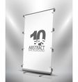 Expanding banner stand vector