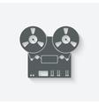 Tape recorder icon vector