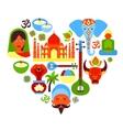 India symbols heart vector