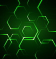 Abstract background with green hexagon vector
