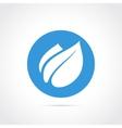 Eco leaf flat icon vector