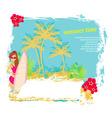 Vertor surf beach vector