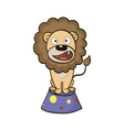Circus lion on a pedestal vector