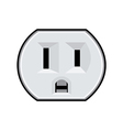 Usa electric socket vector