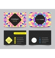 Business card template set abstract colorful vector