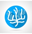 Coral flat blue round icon vector