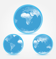 Globe earth blue icons in polygonal style - symbol vector