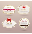 Gift labels set vector