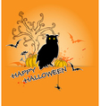 Halloween background with owl vector
