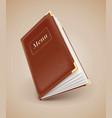 Opening menu book vector