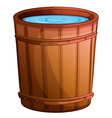 A big bucket of water vector