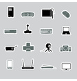 Computer peripherals stickers eps10 vector