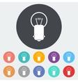 Bulb single icon vector