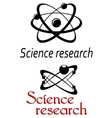 Science research emblems vector