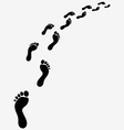 Footsteps turn right vector