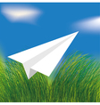 Origami airplane vector