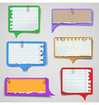 Torn paper speech bubbles vector