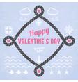 Valentine in marine style vector