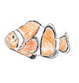 Exotic sea fish vector
