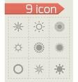 Sun icon set vector