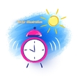 Alarm clock and morning sun vector