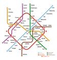 Fictional metro map vector