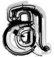 Grunge font letter a vector