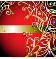 Red background with gold jewerly vector
