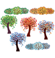 Trees bush vector