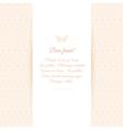 Beautiful invitation card on ornate background vector