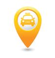 Taxi icon yellow map pointer vector