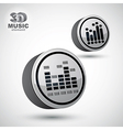 Equalizer 3d round icon isolated 2 versions set vector