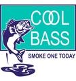 Bass largemouth jumping cool vector