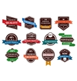 Retro banners labels and stickers vector