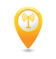 Wi fi icon yellow map pointer vector