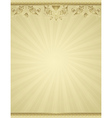 Yellow antique background vector
