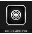 Target icon silver metal grey vector