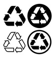 Recycle sign set vector