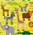 Seamless pattern background with african animals vector