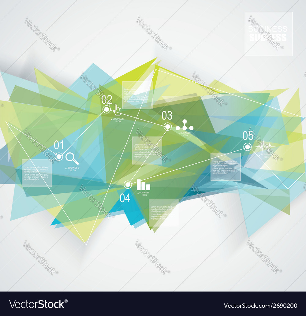 Abstract geometric background with infographic vector | Price: 1 Credit (USD $1)