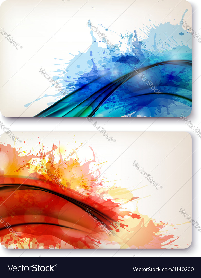 Collection of colorful abstract watercolor vector | Price: 1 Credit (USD $1)
