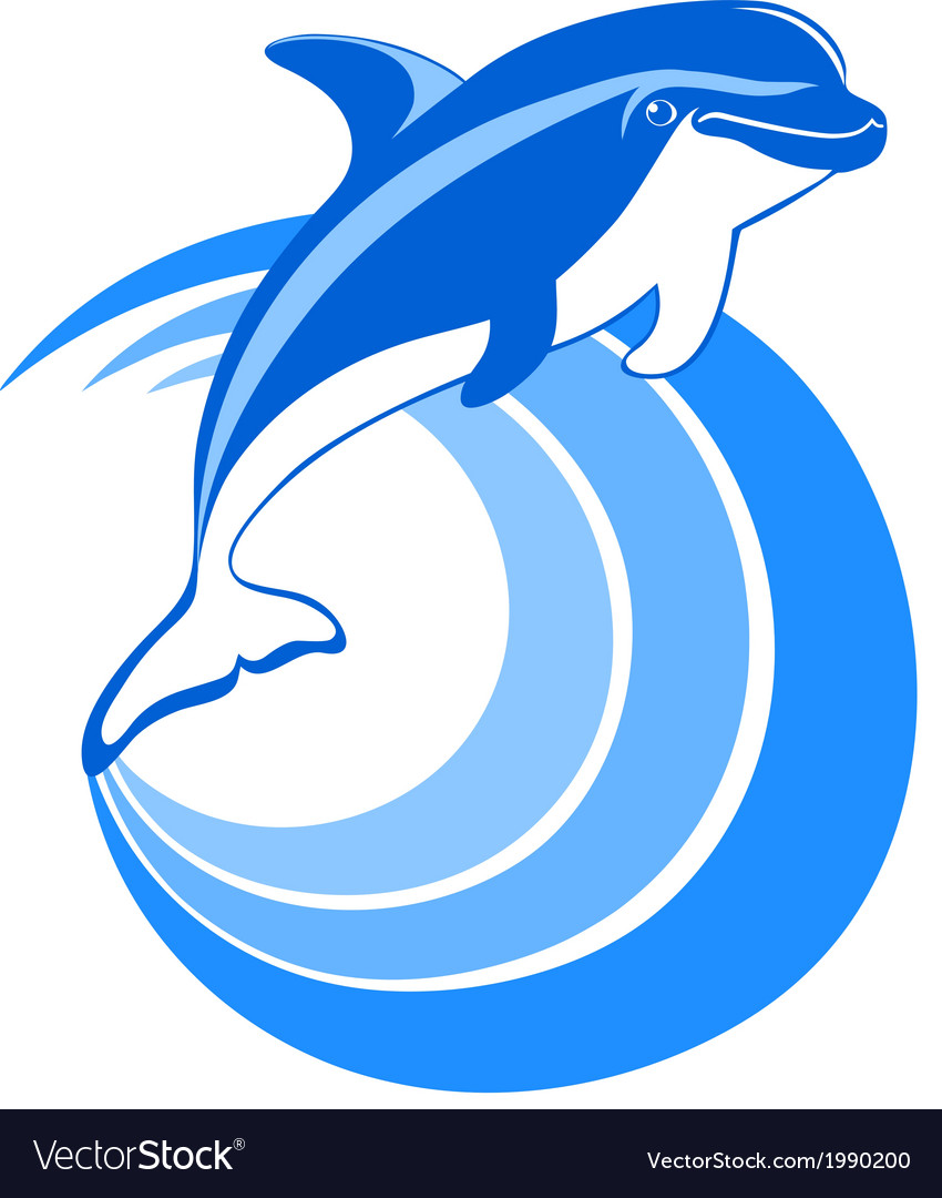 Dolphin icon vector | Price: 1 Credit (USD $1)