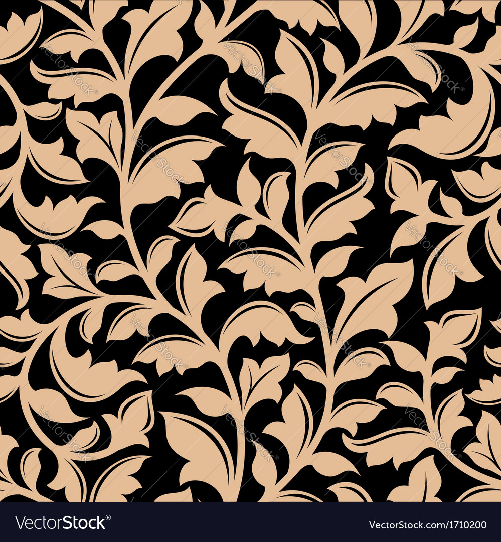 Floral seamless pattern with flourish elements vector | Price: 1 Credit (USD $1)