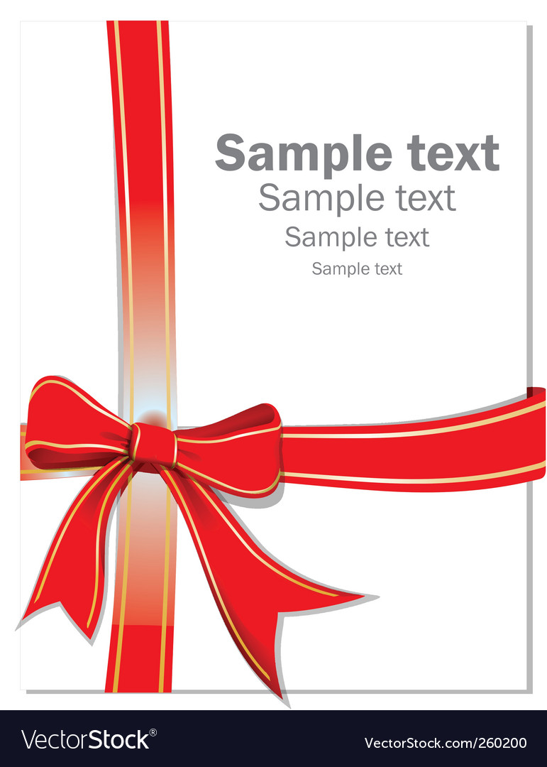 Gift ribbon vector | Price: 1 Credit (USD $1)