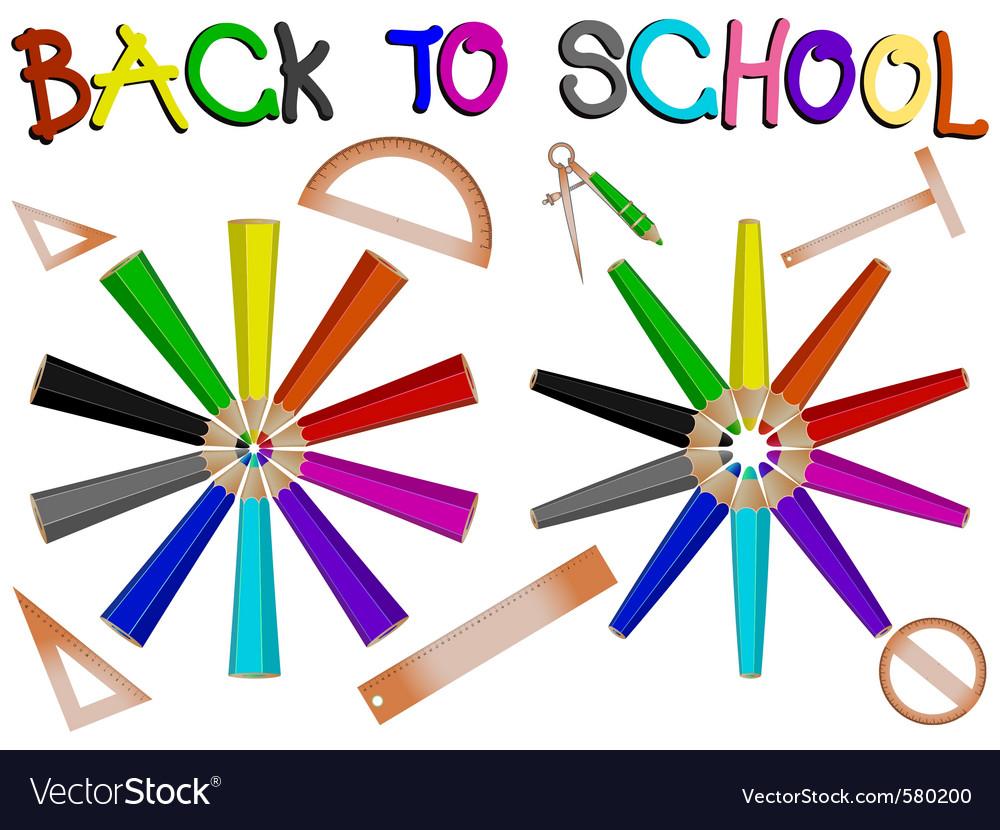 Pencil school vector